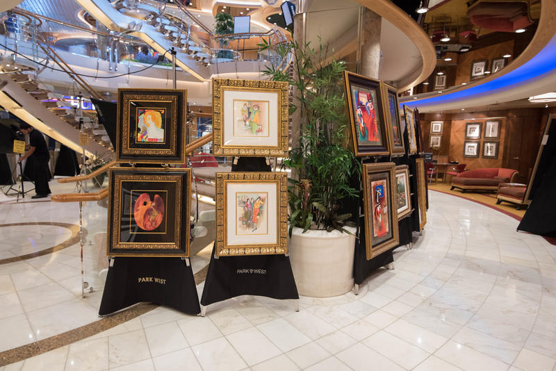 Art Gallery on Freedom of the Seas