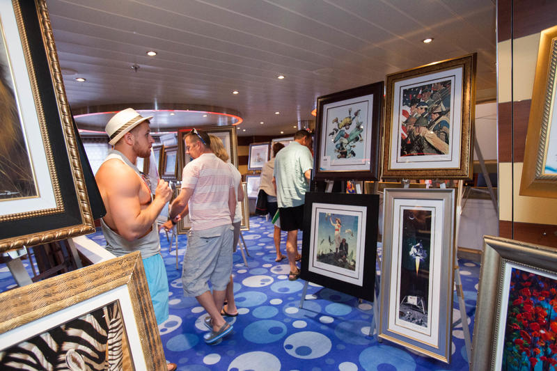 Art Auction on Carnival Breeze