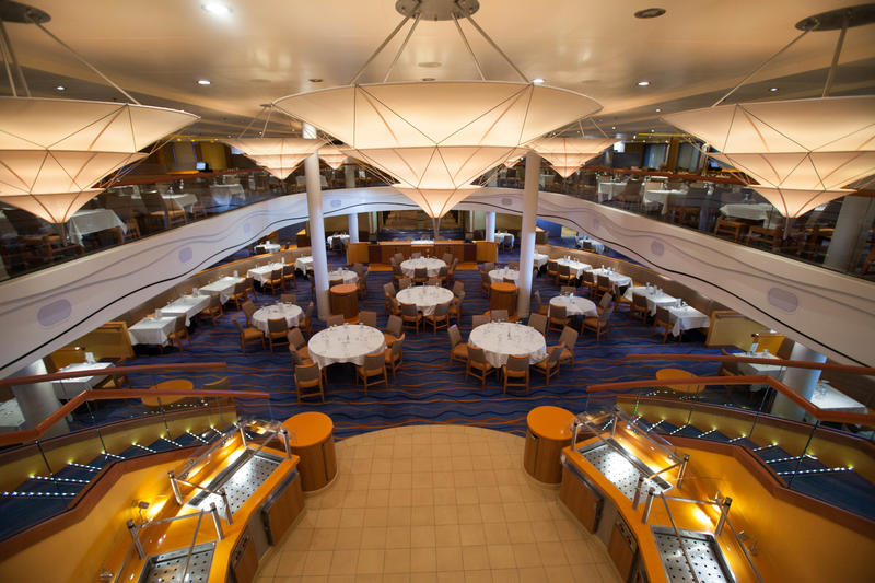 Sapphire Restaurant on Carnival Breeze