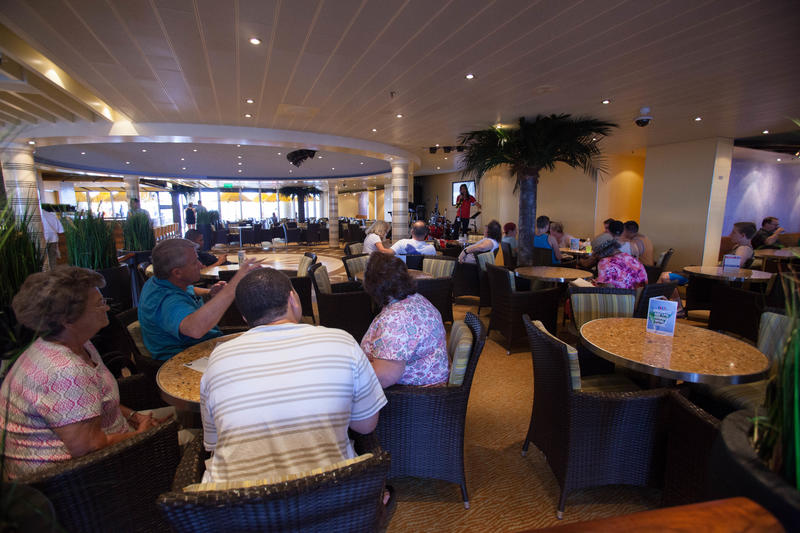 Plaza Bar on Carnival Breeze