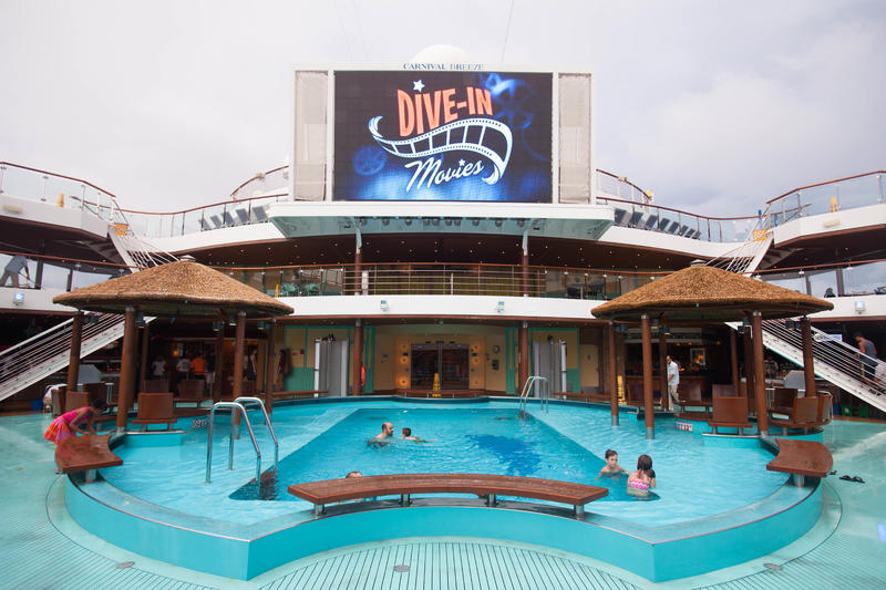 Outdoor Movie Screen on Carnival Breeze