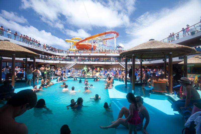 Tides Pool On Carnival Breeze Cruise Ship