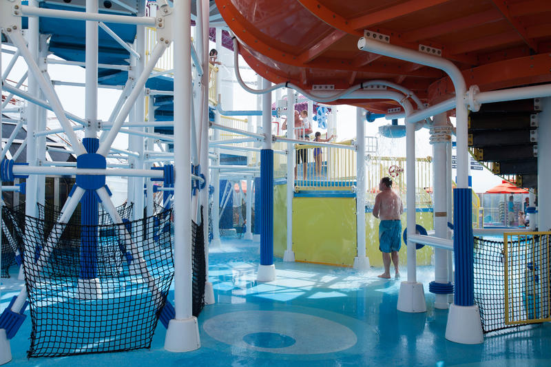 The Carnival WaterWorks on Carnival Breeze