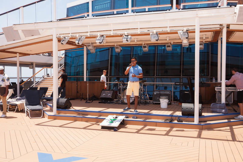 Poolside Stage on Celebrity Reflection