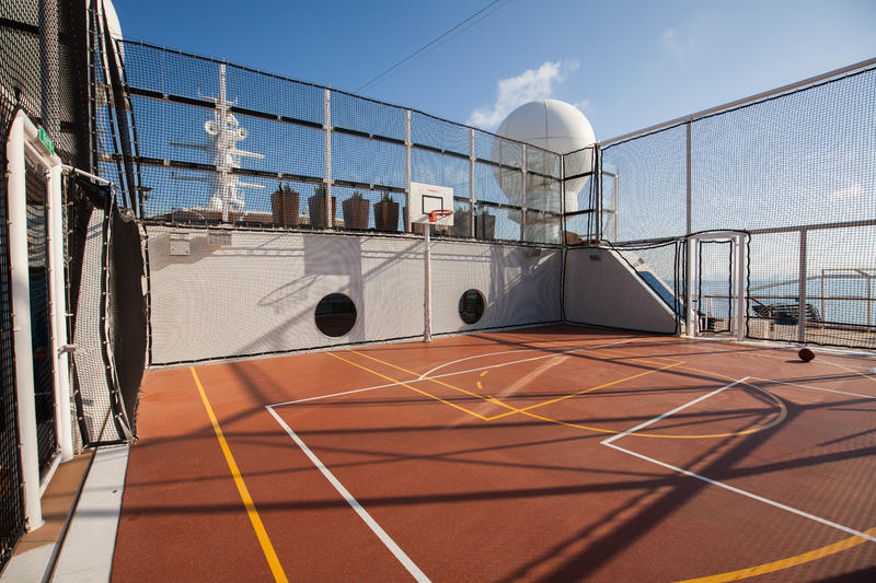 Basketball Court on Celebrity Reflection