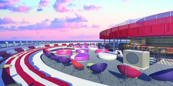 094f94ab59941 Artist rendering of Virgin Voyages' Athletic Club (Image: Virgin  Voyages/Concrete Amsterdam)