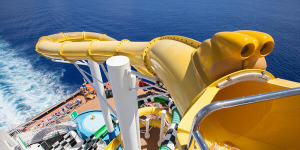 Twister Water Slide on Carnival Sunshine