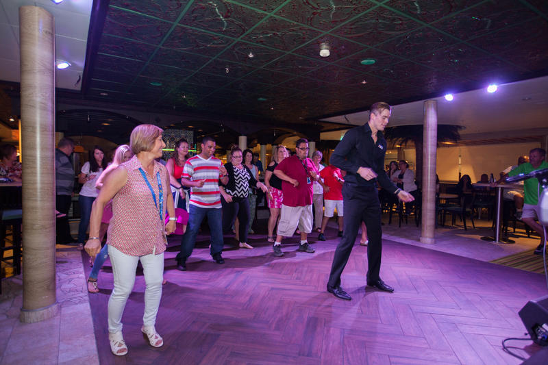 Salsa Class on Carnival Sunshine