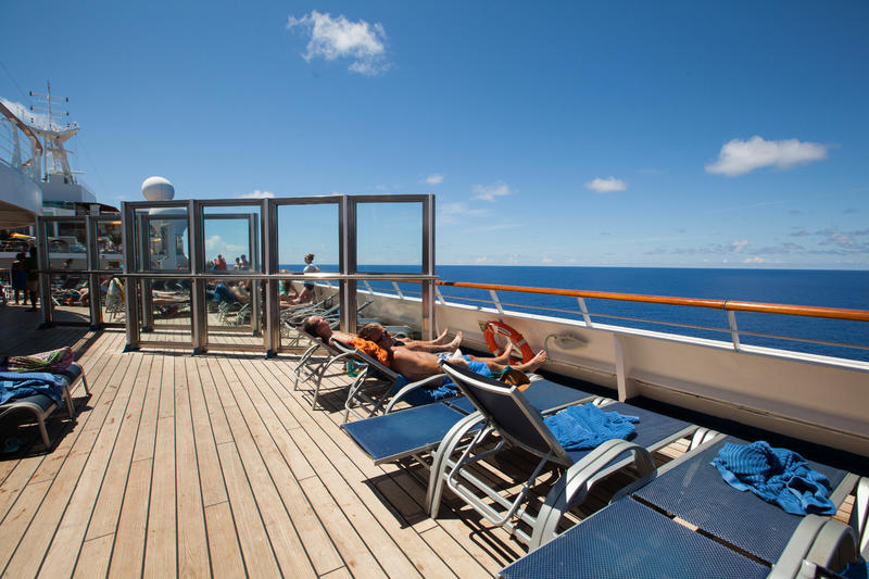 Sun Deck on Carnival Sunshine