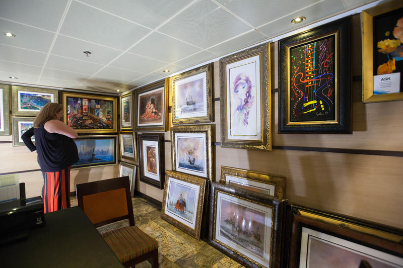 Art Gallery on Carnival Sunshine