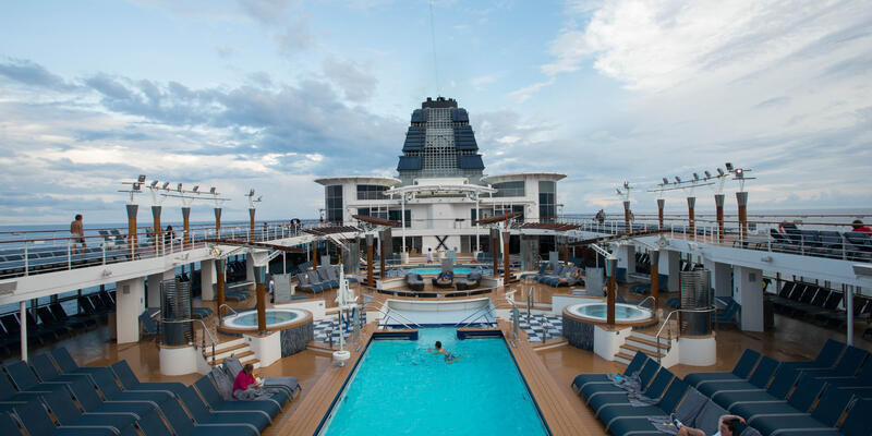 The Waterfall Pool on Celebrity Summit (Photo: Cruise Critic)