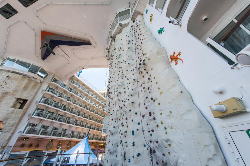 Rock Climbing Wall on Oasis of the Seas