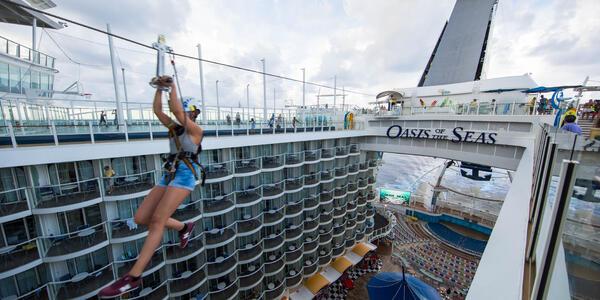 The Zipline on Oasis of the Seas