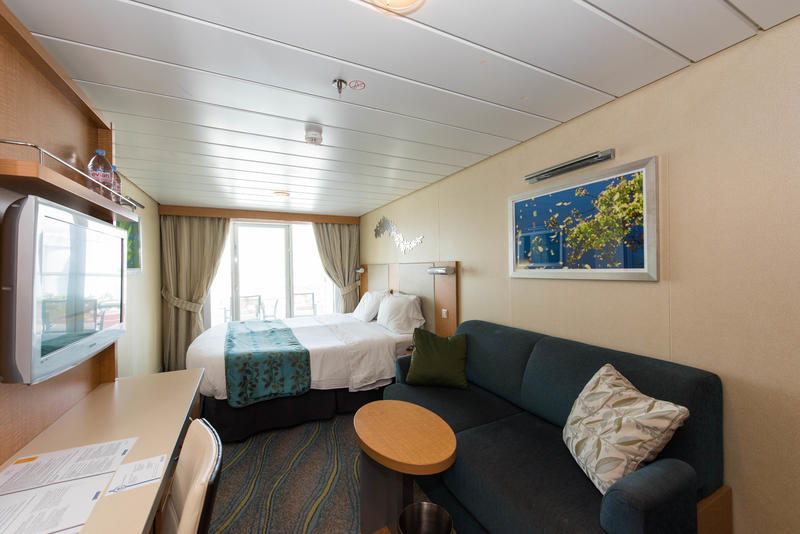 The Superior Oceanview Cabin with Balcony on Oasis of the Seas