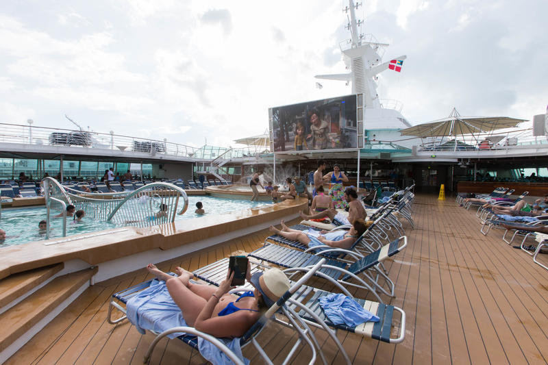Outdoor Movie Screen on Enchantment of the Seas
