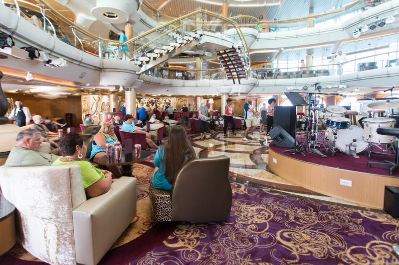 70s Line Dance Class on Enchantment of the Seas