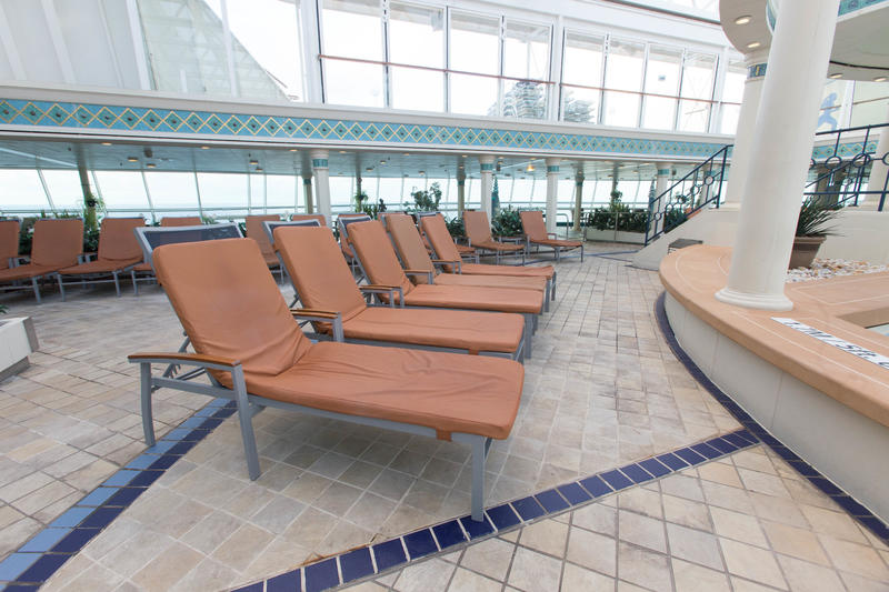 The Solarium on Enchantment of the Seas