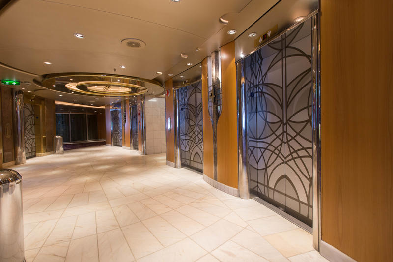 Elevators on Enchantment of the Seas