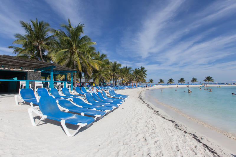 Beach at CocoCay Port