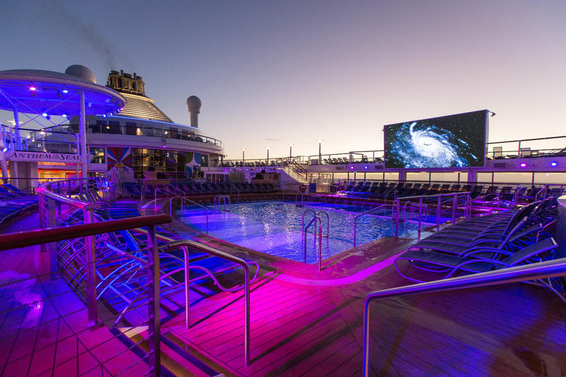Outdoor Movie Screen on Anthem of the Seas