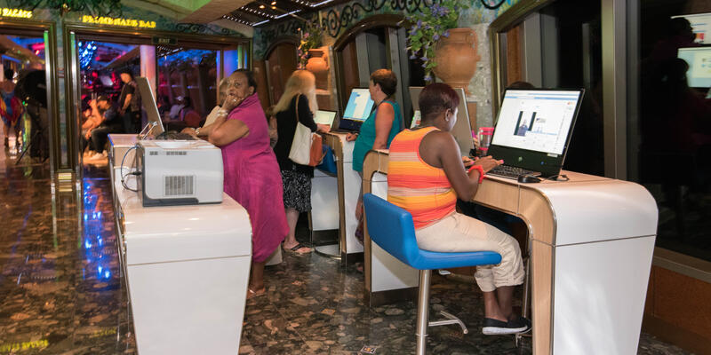 Internet Stations on Carnival Liberty