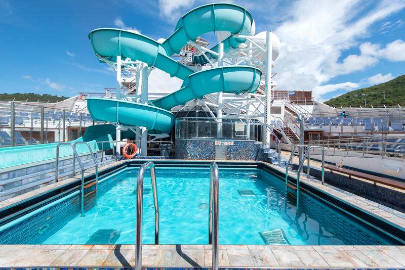 Coney Island Pool On Carnival Liberty Cruise Ship