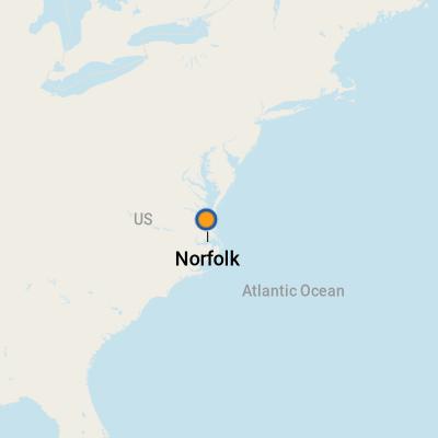 Norfolk VA Cruise Port Terminal Information For Port Of Norfolk - Us cruise ports map