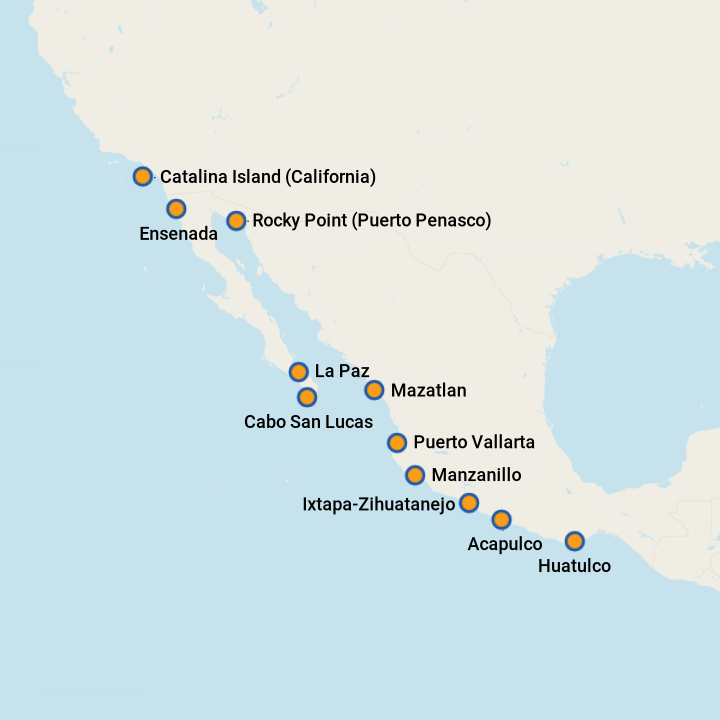 5 Best Mexican Riviera Cruises 2020 (Prices + Itineraries ... S West Coast Of Mexico Map on mexican west coast, map of mexico's pacific coast, map of mexico's east coast, map of mexico coast com, map of mexico's gulf coast, western mexico coast,