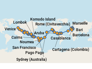 Costa Luminosa Itineraries 2018 Amp 2019 Schedule With Prices On Cruise Critic