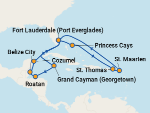 Sky Princess Itineraries 2019 Amp 2020 Schedule With Prices On Cruise Critic