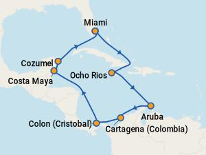 Karibi hajóút - MSC Divina