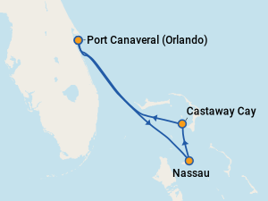 Image Result For Disney Dream Cruise Route Map