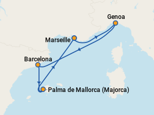 MSC Grandiosa Itineraries: 2020 & 2021 Schedule (with ...