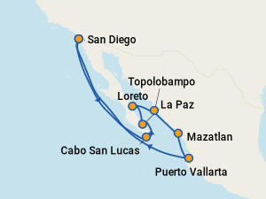 Image result for holland america 10 day mexican riviera cruise 2021 map""